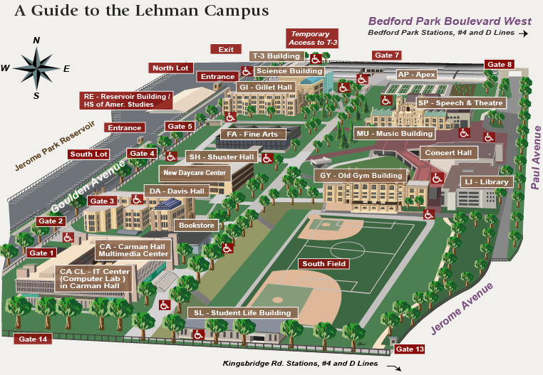 Lehman College Campus Map
