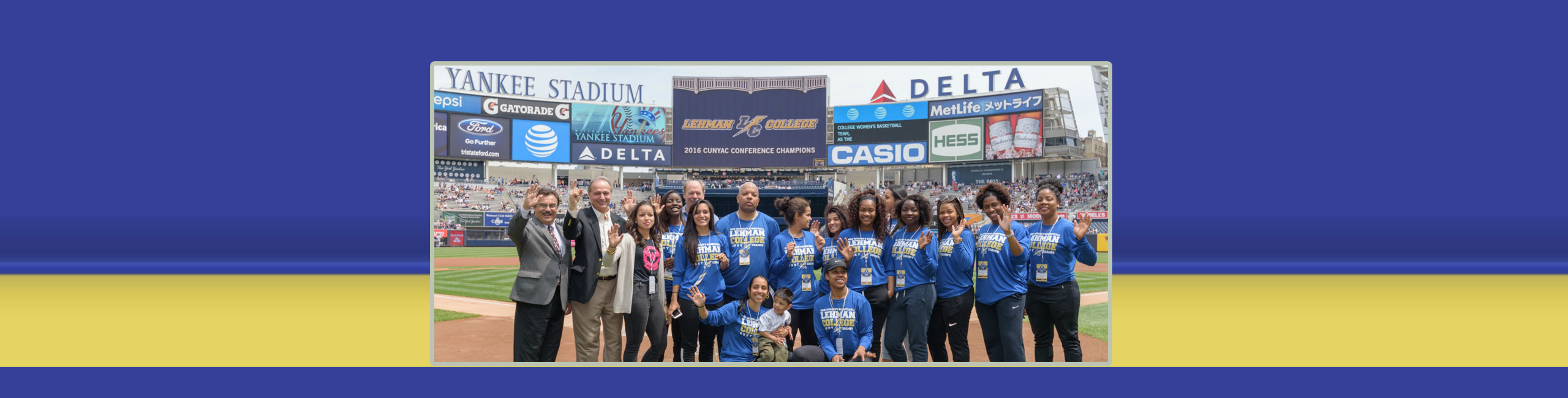 Lehman Champs Honored by the New York Yankees