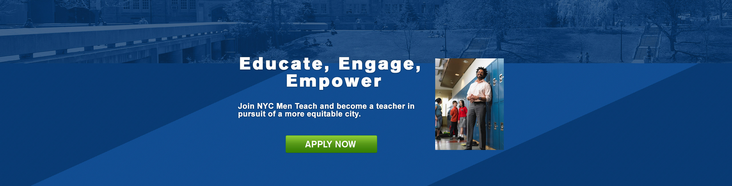 Join NYC Men Teach and become a teacher in pursuit of a more equitable city.
