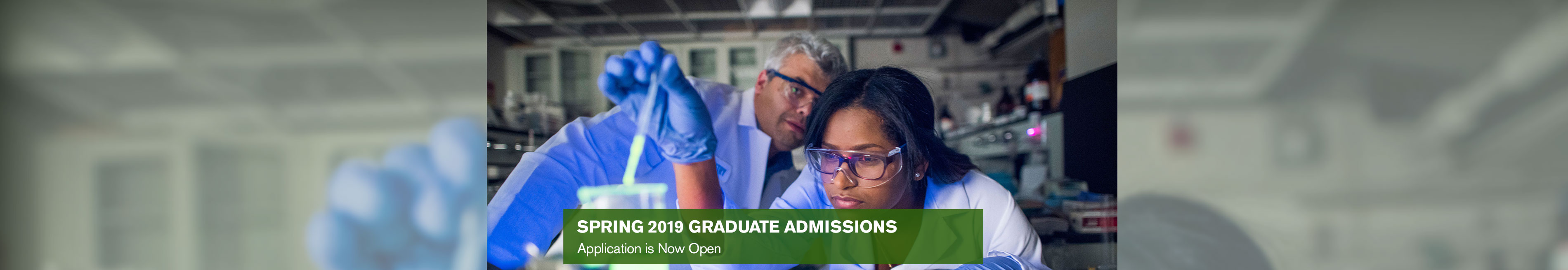 Banner for Spring 2019 Graduate Admissions