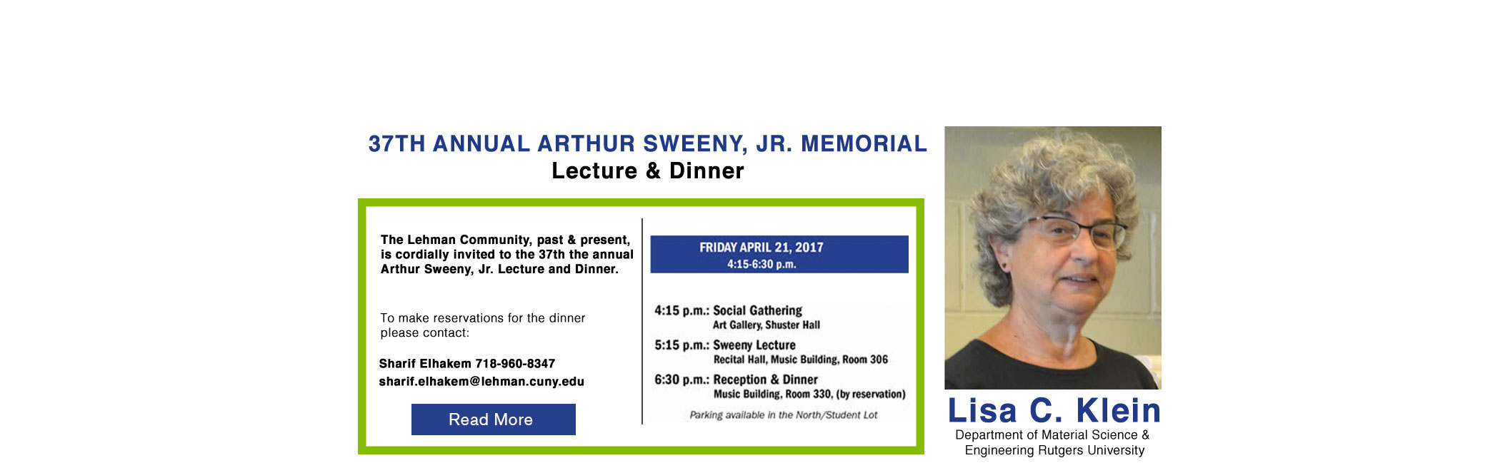 37th Annual Arthur Sweeny, Jr. Memorial Lecture & Dinner