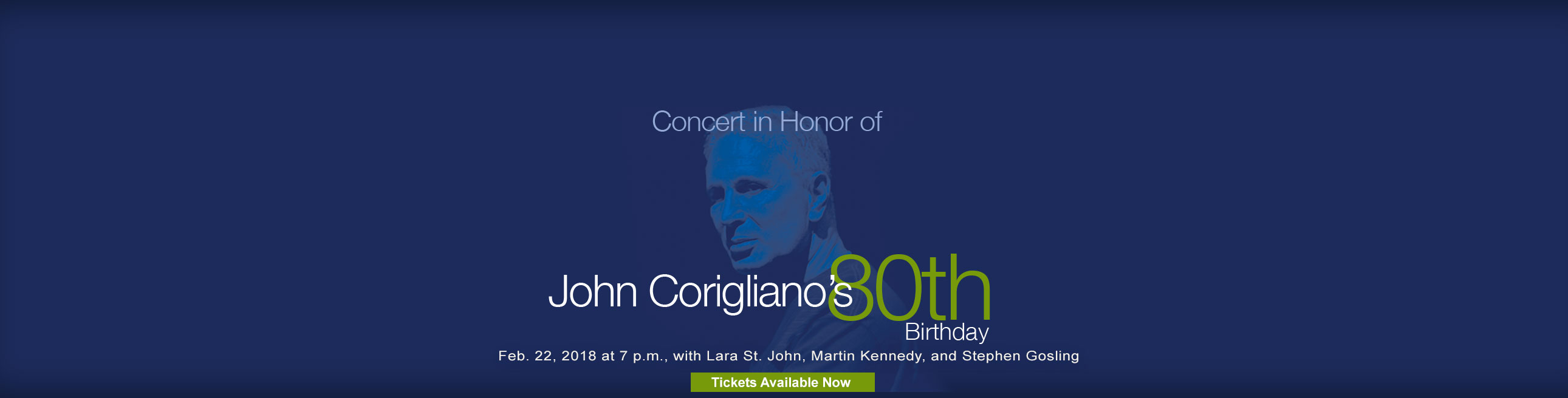 Concert in Honor of John Corigliano's 80th Birthday