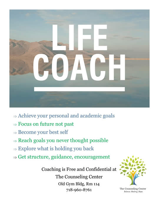 Counseling Center at Lehman College - Life Coaching - Lehman