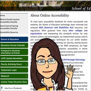 Lehman online accessibility website
