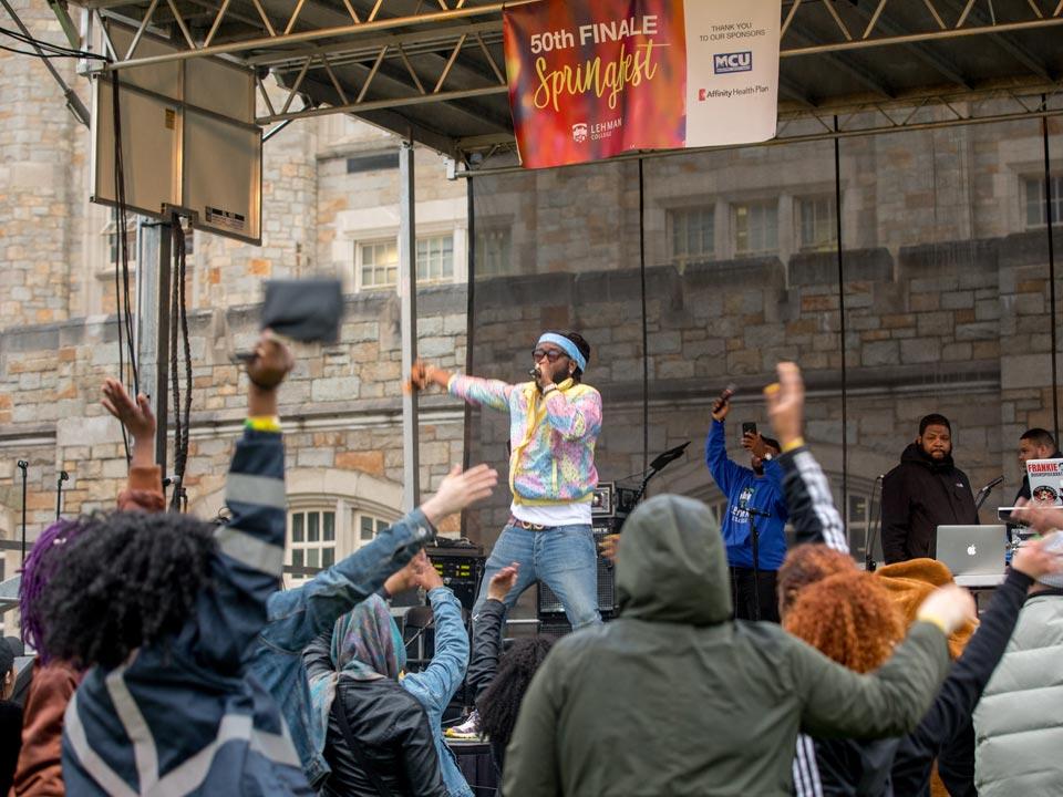 Dancing in the Rain at Lehman Springfest