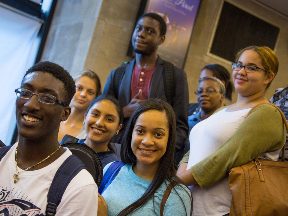 Photo of Lehman students