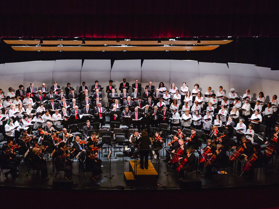 Lehman College and Community Chorus, joined by the Lehman Symphony Orchestra and conducted by Dr. Diana Mittler-Battipaglia