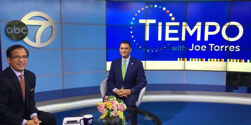 President Cruz on Channel 7's Tiempo